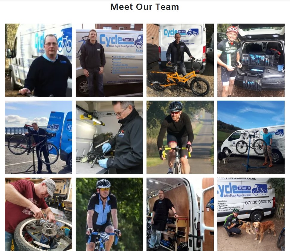 meet our team of business owners and the very best cycle mechanics.